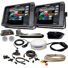 LOWRANCE HDS%2D12 Gen3 Insight and HDS%2D12 Boat in a Box w and HDI Skimmer Sonic Hub2