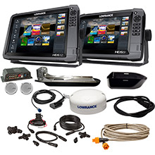 LOWRANCE HDS-12 Gen3 Insight/HDS-9 Boat in a Box w/HDI Skimmer, Sonic Hub 2