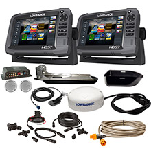 LOWRANCE HDS-7 Gen3 Insight/HDS-7 Boat in a Box w/HDI Skimmer, Sonic Hub 2