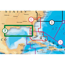 NAVIONICS US Gulf of Mexico Platinum Marine Charts on Compact Flash