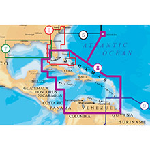 NAVIONICS Caribbean and Bermuda Platinum Marine Charts on Compact Flash