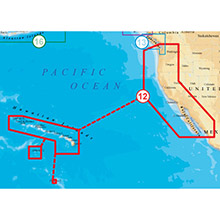 NAVIONICS US West Coast and HI Platinum Marine Charts on SD Card
