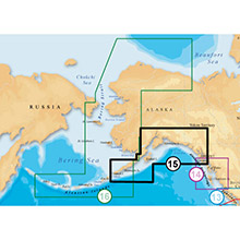NAVIONICS South Alaska Platinum Marine Charts on SD Card