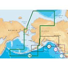 NAVIONICS NW Alaska and Aleutians Platinum Marine Charts on Compact Flash