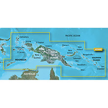 GARMIN New Guinea, Timor Leste, (HXAE006R), BlueChart g2 HD map on SD Card