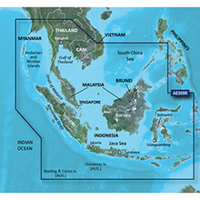 GARMIN Sin, Mal, Indonesia, (HXAE009R), BlueChart g2 HD map on SD Card