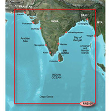 GARMIN Indian Subcontinent, (HXAW003R), BlueChart g2 HD map on SD Card