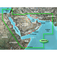 GARMIN The Gulf and Red Sea, (HXAW005R), BlueChart g2 HD map on SD Card