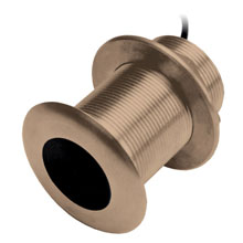 Airmar B75-12-L Thru-hull 12 deg tilt CHIRP Transducer no connector Bronze