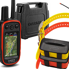 GARMIN Alpha 100 and 2 x TT 10 Dog Tracking and Training Collars, hard case