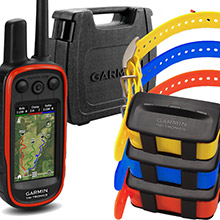GARMIN Alpha 100 and 3 x TT 10 Dog Tracking and Training Collars, hard case