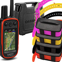 GARMIN Alpha 100 and 4 x TT 10 Dog Tracking and Training Collars, hard case