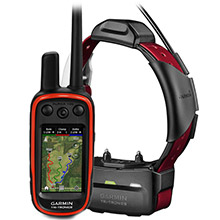 GARMIN Alpha 100 and Burgundy TT 15 Dog Tracking and Training Bundle TT15
