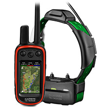 GARMIN Alpha 100 and Dark Green TT 15 Dog Tracking and Training Bundle