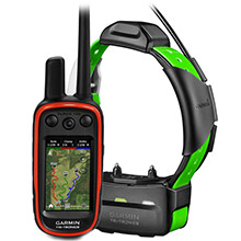 GARMIN Alpha 100 and Light Green TT 15 Dog Tracking and Training Bundle TT15