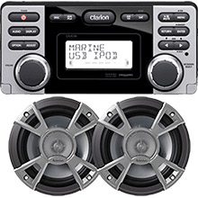 Clarion CMD8R Stereo Package w and Spkrs REFURB