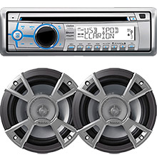 Clarion Stereo Package w and Spkrs REFURB