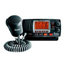 COBRA Marine Radio F77B VHF w and GPS Hailer Black