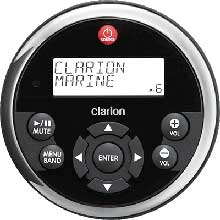 Clarion Remote and Display Round Blk and Stnls Bezel