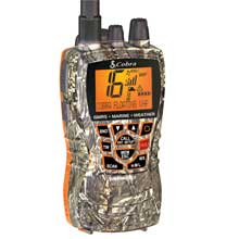 COBRA Marine Radio Dual VHF and GMRS Floating Handheld Radio %2D Camo