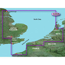 GARMIN Dover to Amsterdam and England Southeast, (HXEU002R), BlueChart g2 HD map on SD Card