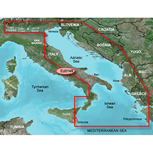 GARMIN Europe - Italy, Adriatic Sea, (HXEU014R), BlueChart g2 HD map on SD Card