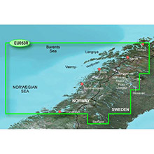 GARMIN Europe - Trondheim - Tromso, (HXEU053R), BlueChart g2 HD map on SD Card