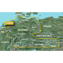 GARMIN Europe, Germany Inland Waters, (VEU060R), BlueChart g2 Vision HD map