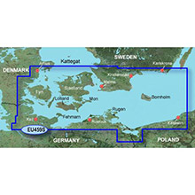 GARMIN Europe - Arhus-Kiel-Koszalin, (HEU459S), BlueChart g2 map on Datacard