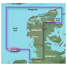 GARMIN Europe - Alborg to the Eider, (HXEU474S), BlueChart g2 HD map on SD Card