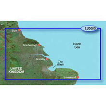 GARMIN Europe - Blyth to Lowestoft, (HXEU500S), BlueChart g2 HD map on SD Card