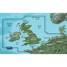 GARMIN Europe - UK and Ireland, (HEU706L), BlueChart g2 map on Datacard