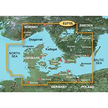 GARMIN Denmark, Skagerrak and Kattegat, (HXEU710L), BlueChart g2 HD map on SD Card