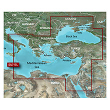 GARMIN Europe - East Mediterranean and Black Sea, (HXEU717L), BlueChart g2 HD map on SD Card