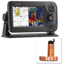 Furuno GP1870F 7 Color GPS Chartplotter and Fishfinder Combo w and 525STID%2DMSD 600W Bronze Thru%2DHull Transducer