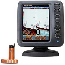 FURUNO FCV587 84 inch Color Fishfinder Combo w and 600W Thru%2DHull Triducer w and Fairing Block 525STID%2DMSD