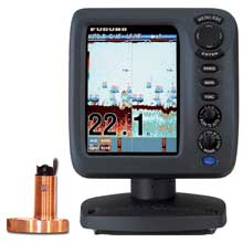 FURUNO FCV627 57 inch Color Fishfinder Combo w and 600W Thru%2DHull Triducer w and Fairing Block 525STID%2DMSD