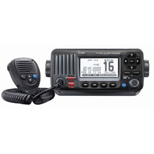 ICom M424G Fixed Mount VHF Marine Transceiver w/Built-In GPS - Black