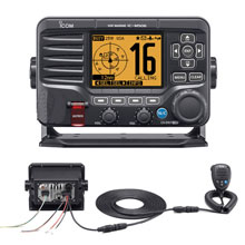 ICom M506 VHF Fixed Mount w/Rear Mic NMEA 0183/2000 Black