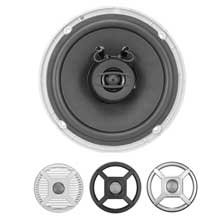 JENSEN MS650RTL 6.5 inch Coaxial LED Lighted Speakers Silver/Black/White Grills