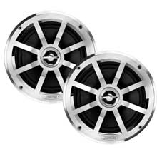 Jensen MSX60CP 65 inch Coaxial Speakers %2D Silver and Black %2D Pair