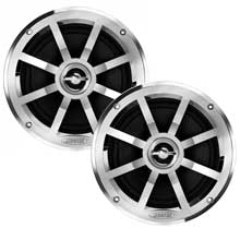 Jensen 6.5 inch Coaxial Speaker, 75W, Chrome Plated