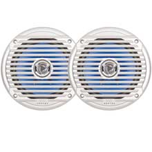 Jensen 6.5 inch Coaxial Speakers 65 Watt, Silver