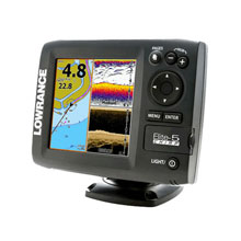 LOWRANCE Elite-5 CHIRP COMBO, 83/200 and 455/800 Transducer