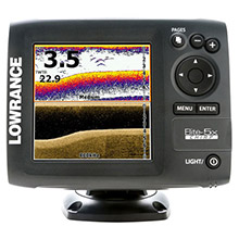 LOWRANCE Elite-5X CHIRP Fishfinder, 50/200 and 455/800 KHz Transducer