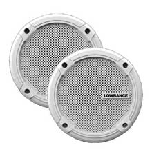 LOWRANCE Speakers, 6.5 inch, SonicHub