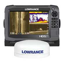 LOWRANCE HDS%2D7 GEN3 w and Baja Antenna