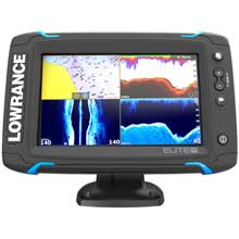 LOWRANCE Elite%2D7 Ti Touch Combo %2D Med and High and 455 and 800 HDI Transom Mount w and Navionics plus Chart