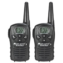 MIDLAND LXT118 22 Channel GMRS Radios - Black