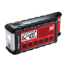 MIDLAND ER310 Emergency Crank Radio w and AM and FM and Weather Alert